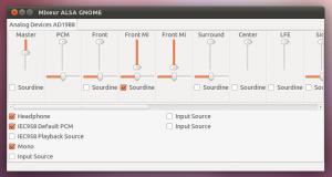 GUI pour Alsamixer sur Gnome