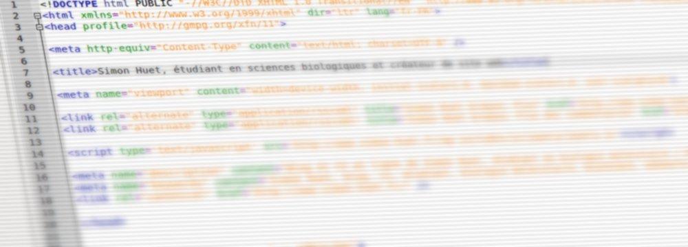 Simon Huet: webmaster et web designer